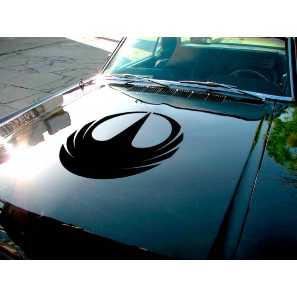 Rogue One Rebel Aliance Galactic Empire Jyn Erso Death Star Hood Car Vinyl Sticker Decal>
