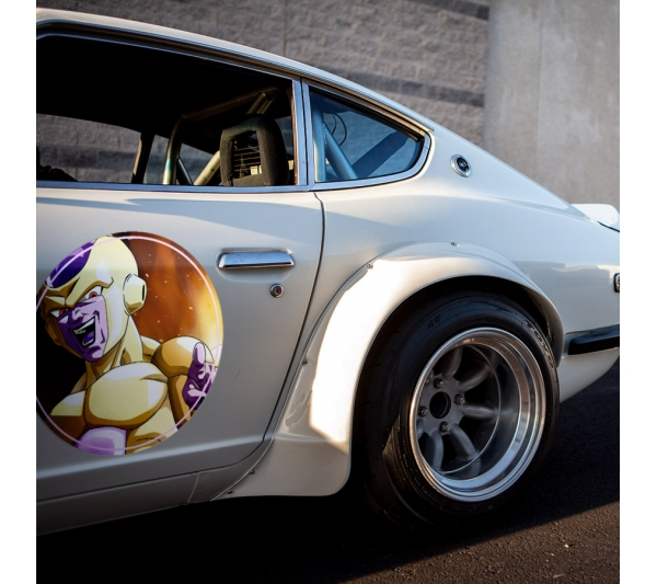 2x Pair Frieza Gold Emperor Universe 7 Dragon Z Super ドラゴンボール DBZ Meatball Rondels Door Circle Printed Vinyl Decal>
