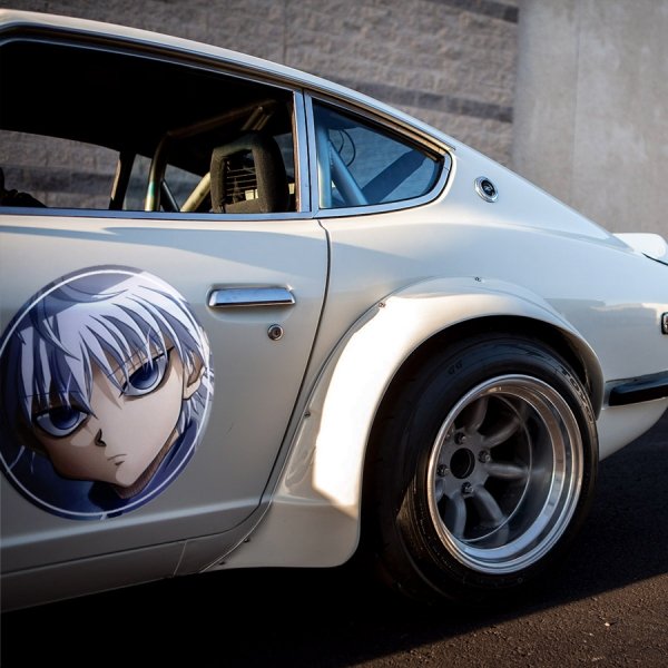 2x Pair Gon Freecss v1 HxH Hunter x Anime Manga Meatball Rondels Door Circle Printed Vinyl Decal>