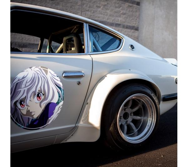 2x Pair Neferpitou Pitou v2 HxH Hunter x Anime Manga Meatball Rondels Door Circle Printed Vinyl Decal>