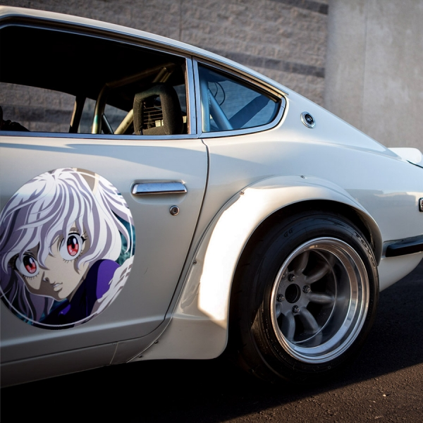 2x Pair Neferpitou Pitou v2 HxH Hunter x Anime Manga Meatball Rondels Door Circle Printed Vinyl Decal>