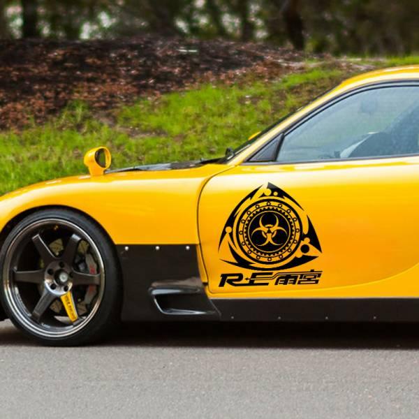 2x Side Mazda Rotary Team RE Amemiya RX-7 RX-8 Racing  JDM Stance Car Vinyl Decal