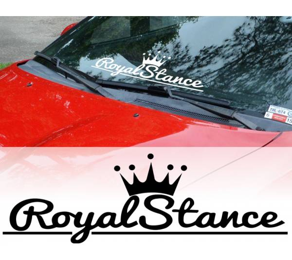 Royal Stance Fitment Nation Royal Stance Event Banner Strip JDM Low Vinyl Decal