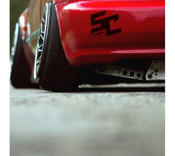 2x Pair S-Chassis v3 Nissan 180SX 200SX 240SX Silvia S14 S15 Logo Racing Event Stance Low Tuning Strip JDM Low Vinyl Decal