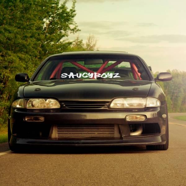 Saucyboyz v1 Banner Stance Clean Low Show JDM Racing Drift Car Vinyl Sticker Decal