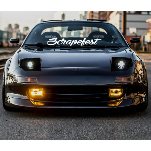 Scrapefest Banner Scrape Low Stance Slammed JDM Windshield Build Event Meet Car Vinyl Sticker Decal