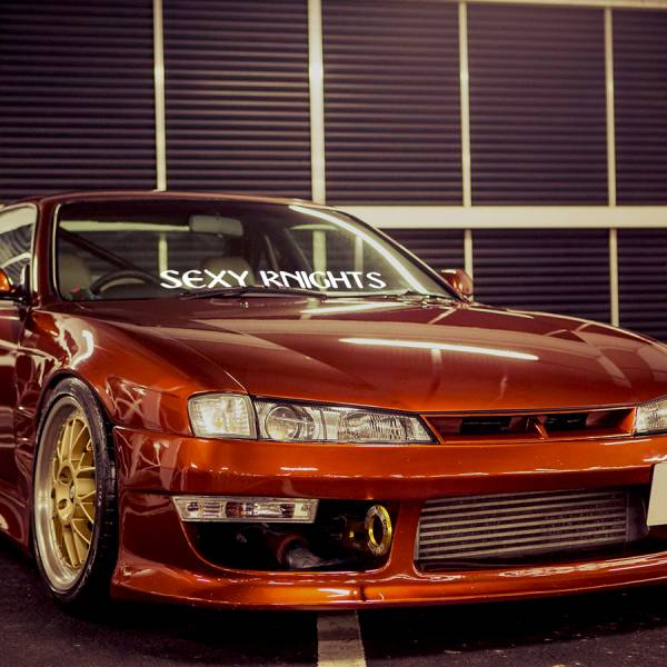 Sexy Knights Team Kobe Japan Drift Racing JDM Event Stance Banner Strip Low Vinyl Decal >