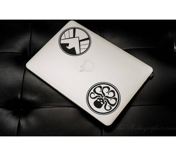 2in1 Logo Agents of SHIELD HYDRA Comics Avengers Car Laptop Vynil Sticker Decal