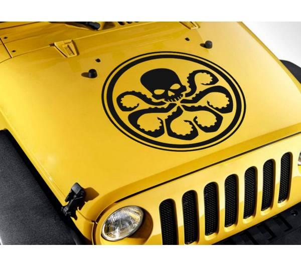 S.H.I.E.L.D. Hail Hydra Hood v3 Logo Agents of Shield Eagle Comics Avengers Car Vinyl Sticker Decal