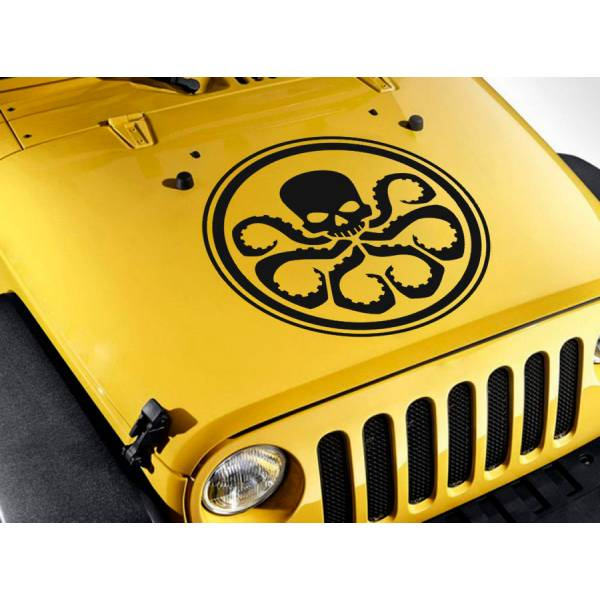Hail Hydra Skull Hood v3 Agents Eagle Comic Car Vinyl Sticker Decal>