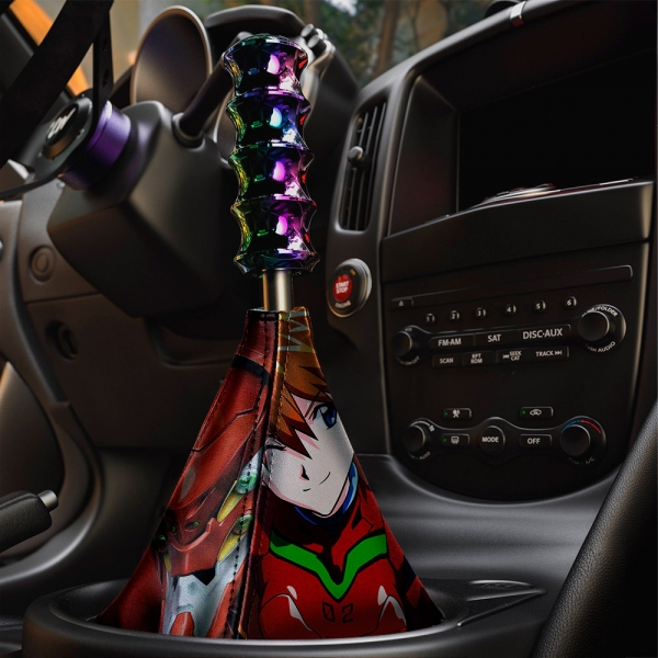 Asuka Langley Soryu Eva Unit 02 Neon Genesis NERV Sexy Anime Manga Eco Leather Printed Car Shift Boot>