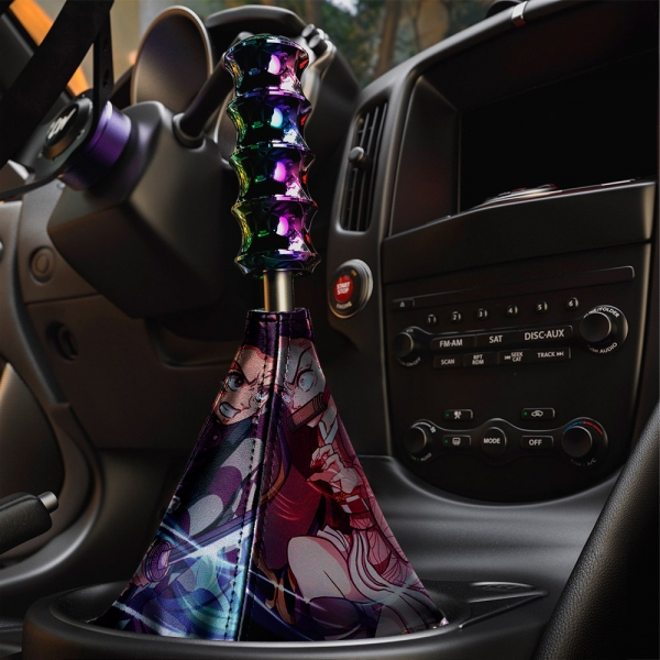 Demon Slayer v4 Anime Manga Tanjiro Kamado Nezuko Giyu Tomioka Eco Leather Printed Car Shift Boot>