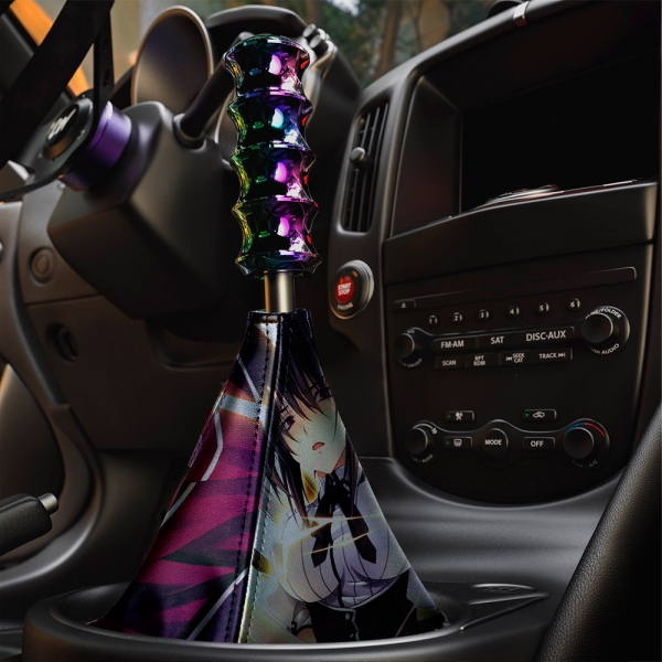 High School DxD v1 ハイスクール Akeno Himejima Koneko Toujou Sexy Hot Boobs Girl Anime Manga Eco Leather Printed Car Shift Boot>