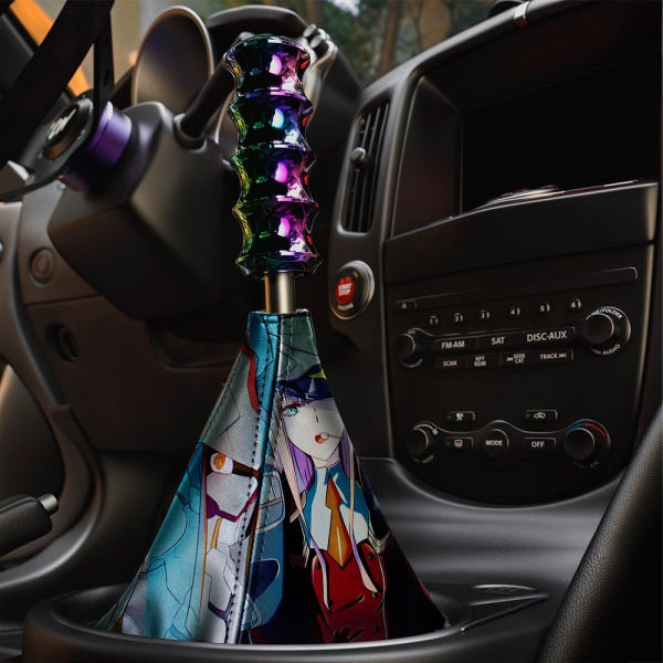 Darling in the Franxx v1 Zero Two Code 002 Strelizia Sutorerichia Sexy Girl Anime Manga Eco Leather Printed Car Shift Boot>