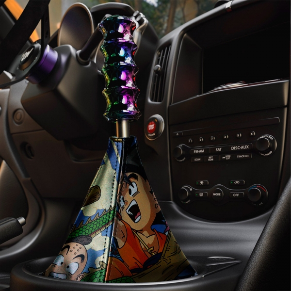 Dragon Goku Kid Black Saiyan Super ドラゴンボール Manga Anime Eco Leather Printed Car Shift Boot>