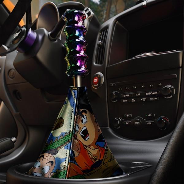 Dragon Goku Kid Black Saiyan Super ドラゴンボール Manga Anime Eco Leather Printed Car Shift Boot>