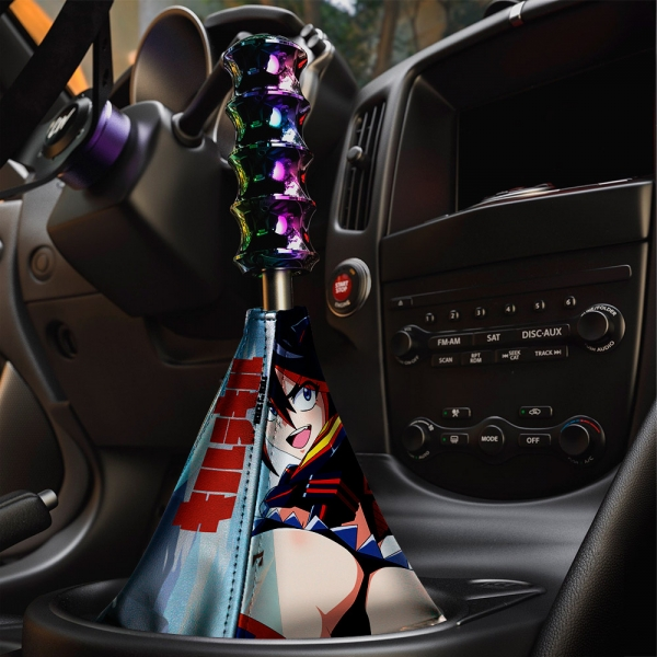 Kill la Kill v2 Ryuko Matoi Scissor Senketsu Goku Sexy Hot Boobs Ass Honnouji Nudist Anime Manga Eco Leather Printed Car Shift Boot>