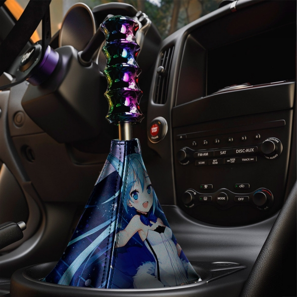 Hatsune Miku   初音ミク 01 Vocaloid Anime Girl Manga Sexy Hot Eco Leather Printed Car Shift Boot>