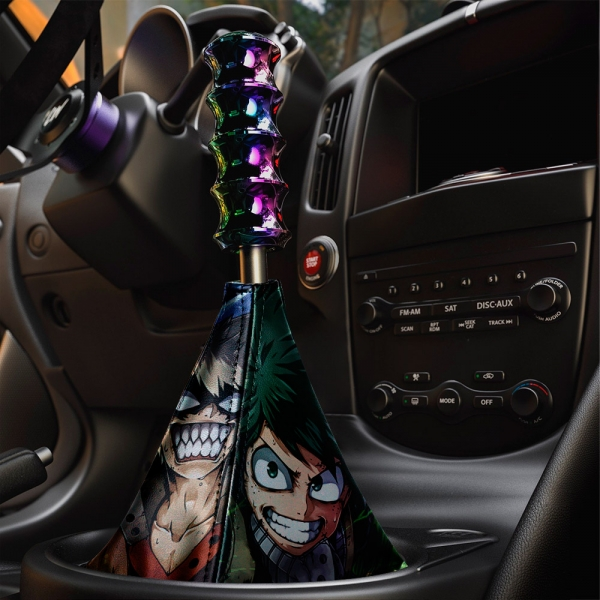 My Hero Academia v1 Izuku Midoriya Deku Katsuki Bakugo Shoto Quirk Anime Manga Eco Leather Printed Car Shift Boot>
