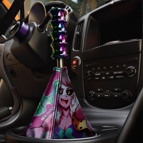 Mina Ashido Pink Team My Hero Academia v2 Izuku Midoriya Deku Bakugo Shoto Quirk Anime Manga Eco Leather Printed Car Shift Boot>