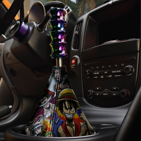 One Piece Monkey D Luffy Brook Pirates Anime Manga Eco Leather Printed Car Shift Boot