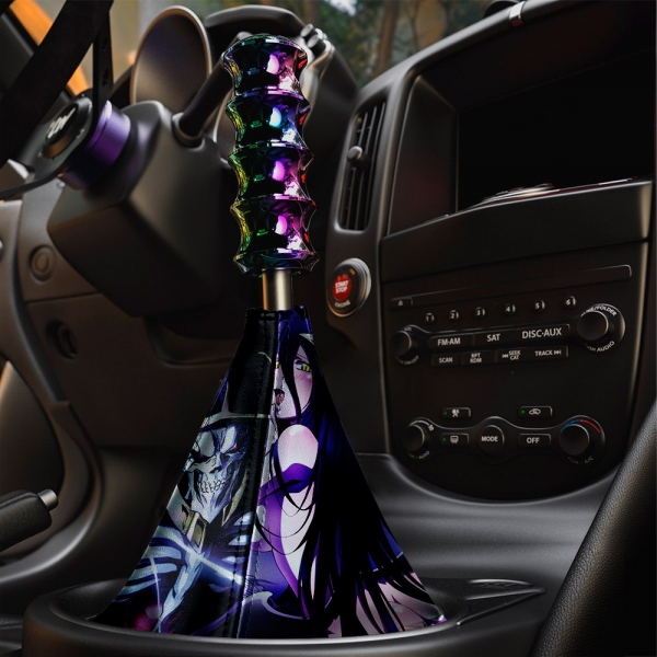 Overlord V1 オーバーロード Great Tomb of Nazarick Ainz Ooal Gown Albedo Shalltear Bloodfallen Eco Leather Printed Car Shift Boot>
