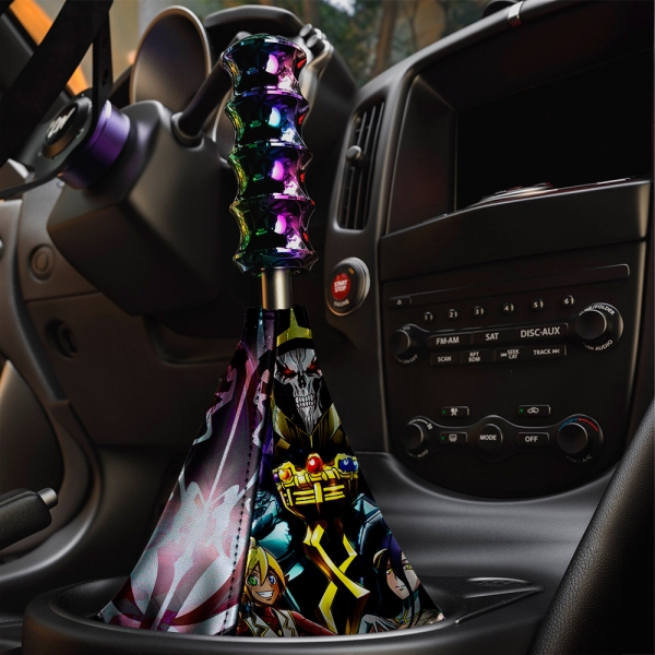Overlord V2 オーバーロード Great Tomb of Nazarick Ainz Ooal Gown Albedo Shalltear Bloodfallen Eco Leather Printed Car Shift Boot>