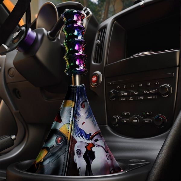 Rei Ayanami Eva Unit 00 Neon Genesis NERV Sexy Anime Manga Eco Leather Printed Car Shift Boot>