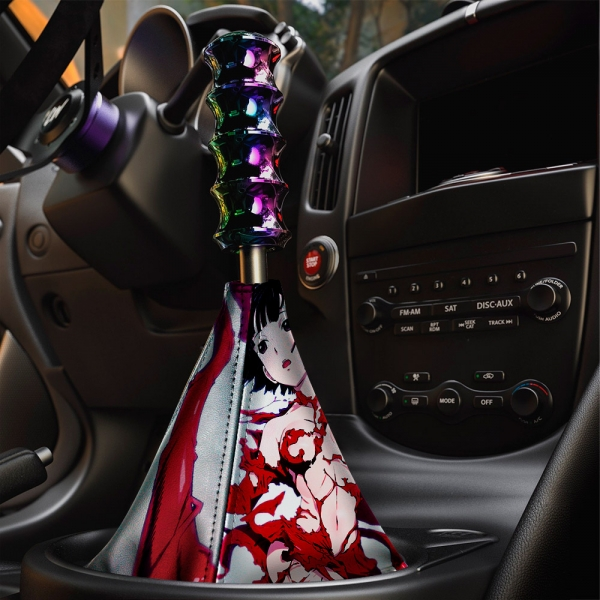 Sidonia no Kishi v2 Knights Hoshijiro Shizuka Benisuzume 紅天蛾 Gauna 490 Crimson Hawk Moth Beni Red Eco Leather Printed Car Shift Boot>