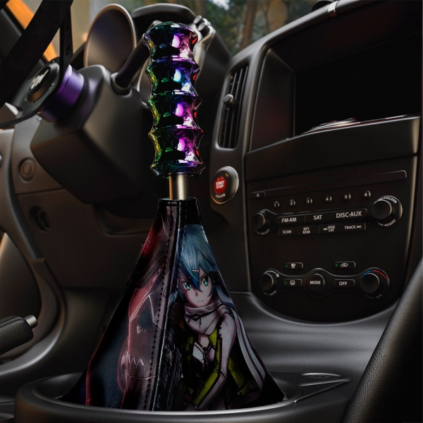 Sword Art Online Sinon v1 Asada Shino Gun Gale ALfheim Game Sexy Hot Anime Manga Eco Leather Printed Car Shift Boot>