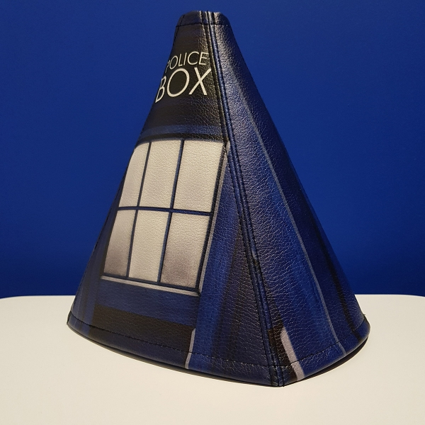 Doctor Who TV Show TARDIS Police Box Master Dalek Eco Leather Printed Car Shift Boot