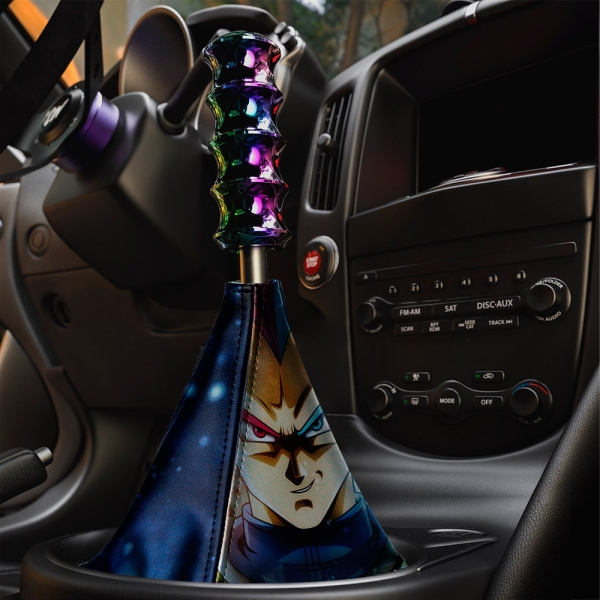Vegeta v1 Fallen Saiyan Dragon Z DBZ Super Goku Manga Anime Eco Leather Printed Car Shift Boot>