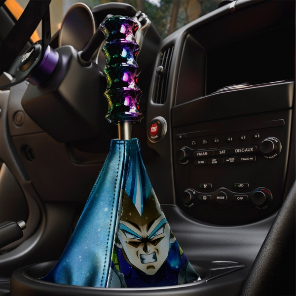 Vegeta v3 Fallen Saiyan Dragon Z DBZ Super Goku Manga Anime Eco Leather Printed Car Shift Boot>