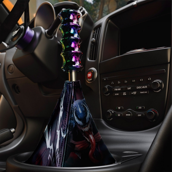 Eddie Brock Badass Symbiote Antihero Amazing Peter Parker Eco Leather Printed Car Shift Boot>