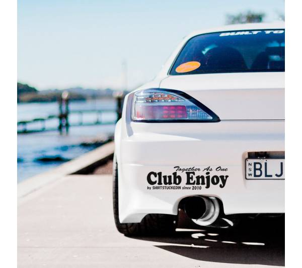 Shirtstuckedin v5 Drift Team Club Kobe Enjoy Racing Kanji JDM Japan Event Stance Banner  Strip Low Vinyl Decal