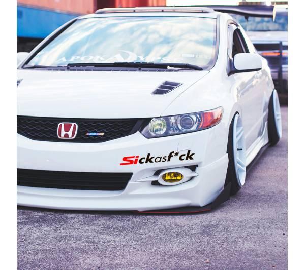Sickasf*ck Sick Fresh Banner Honda Civic Si Mugen Racing Low Show Funny Stance Slammed JDM Car Vinyl Sticker Decal