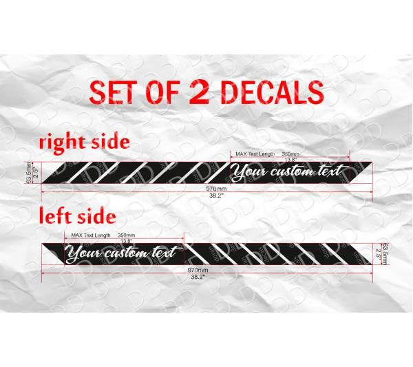 Buy X CUSTOM TEXT Side Body Stripes Racing Race Rally JDM Car - Custom car body decals