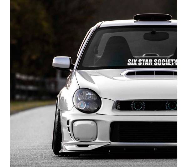Six Star Society Subaru WRX Impreza STI Event Stance Banner Strip JDM Low  Vinyl Decal