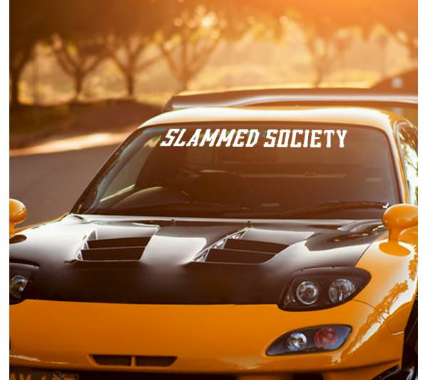 Slammed Society Logo Windshield Show Stance Nation  JDM Royal Stance Event Low Vinyl Decal