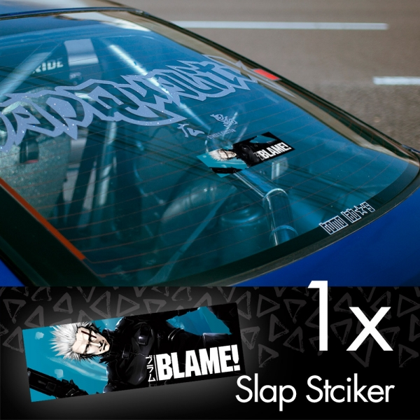 Blame! V4 Killy Cibo Sanakan Domochevsky City Netsphere Silicon Creatures Cyborg Anime Manga JDM Printed Box Slap Bumper Car Vinyl Sticker>