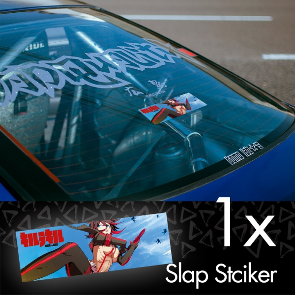 Kill la Kill Ryuko Matoi Senketsu V2 Anime Manga JDM Printed Box Slap Bumper Car Vinyl Sticker>
