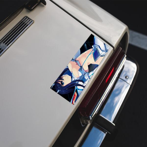 Ryuko Matoi Senketsu V4 Anime Manga JDM Printed Box Slap Bumper Car Vinyl Sticker>