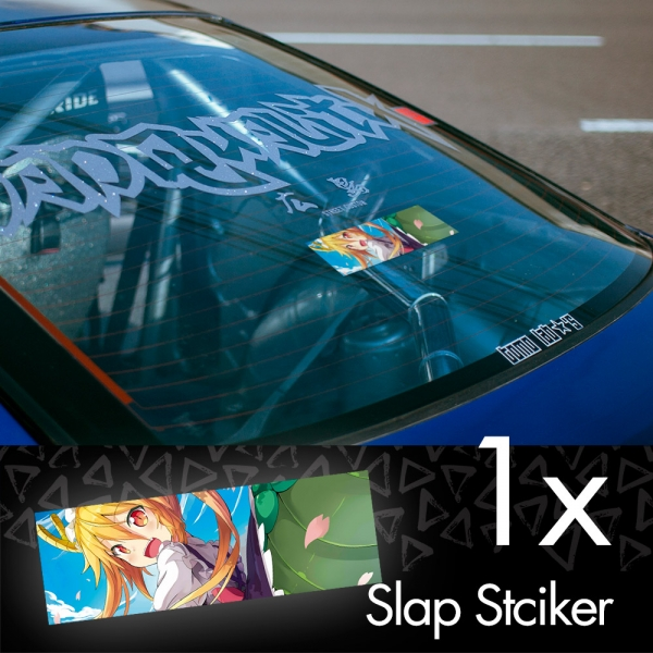 Tohru Kobayashi V3 Miss Chaos Dragon Maid Lucoa Quetzalcoatl Horns Sexy Girl Anime Manga JDM Printed Box Slap Bumper Car Vinyl Sticker>
