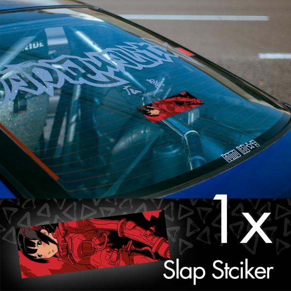 Sidonia no Kishi Knights Hoshijiro Shizuka V1 Anime Manga JDM Printed Box Slap Bumper Car Vinyl Sticker>