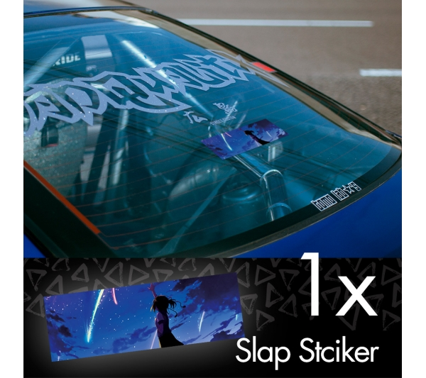 Your Name V2 Kimi no Na wa Mitsuha Miyamizu Taki Tachibana Comet Anime Manga JDM Printed Box Slap Bumper Car Vinyl Sticker
