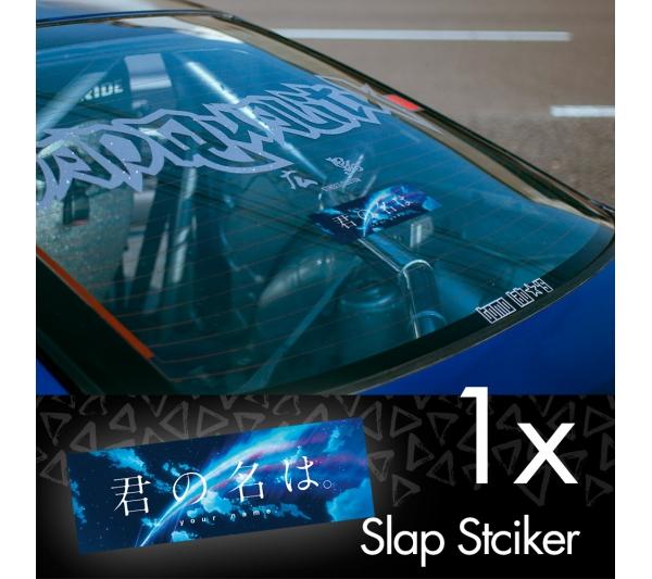 Your Name V3 Kimi no Na wa Mitsuha Miyamizu Taki Tachibana Comet Anime Manga JDM Printed Box Slap Bumper Car Vinyl Sticker