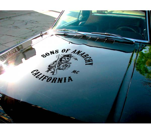 Sons of Anarchy California Logo Jacket Reaper SOA Samcro TV Show Outlaw Club  Jax Teller Charming  Car Vinyl Sticker Decal