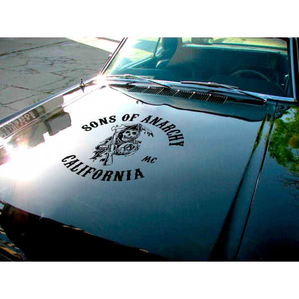 Sons of Anarchy California  Jacket Reaper SOA Samcro TV Show Outlaw Club  Jax Teller Charming  Car Vinyl Sticker Decal