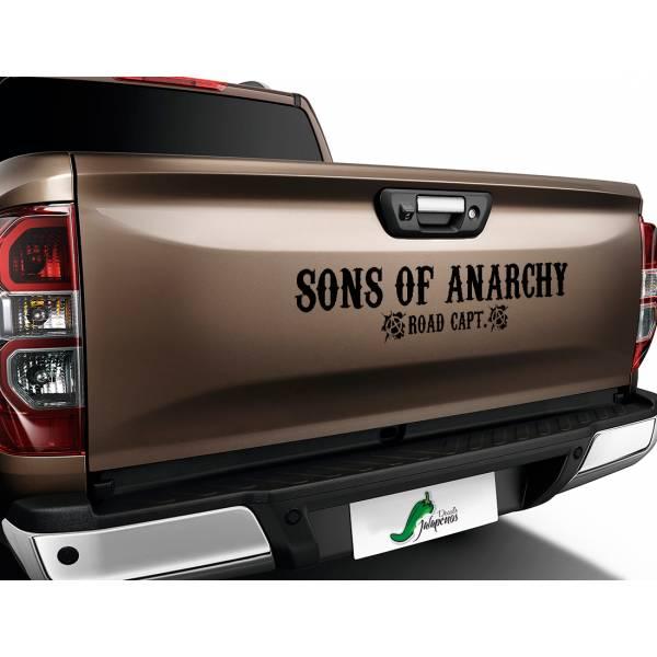 Sons of Anarchy Road Capt SOA Samcro TV Show Outlaw Club  Jax Teller Charming  Car Vinyl Sticker Decal