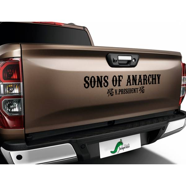 Sons of Anarchy Vice President SOA TV Show Outlaw Club  Jax Teller Charming  Car Vinyl Sticker Decal